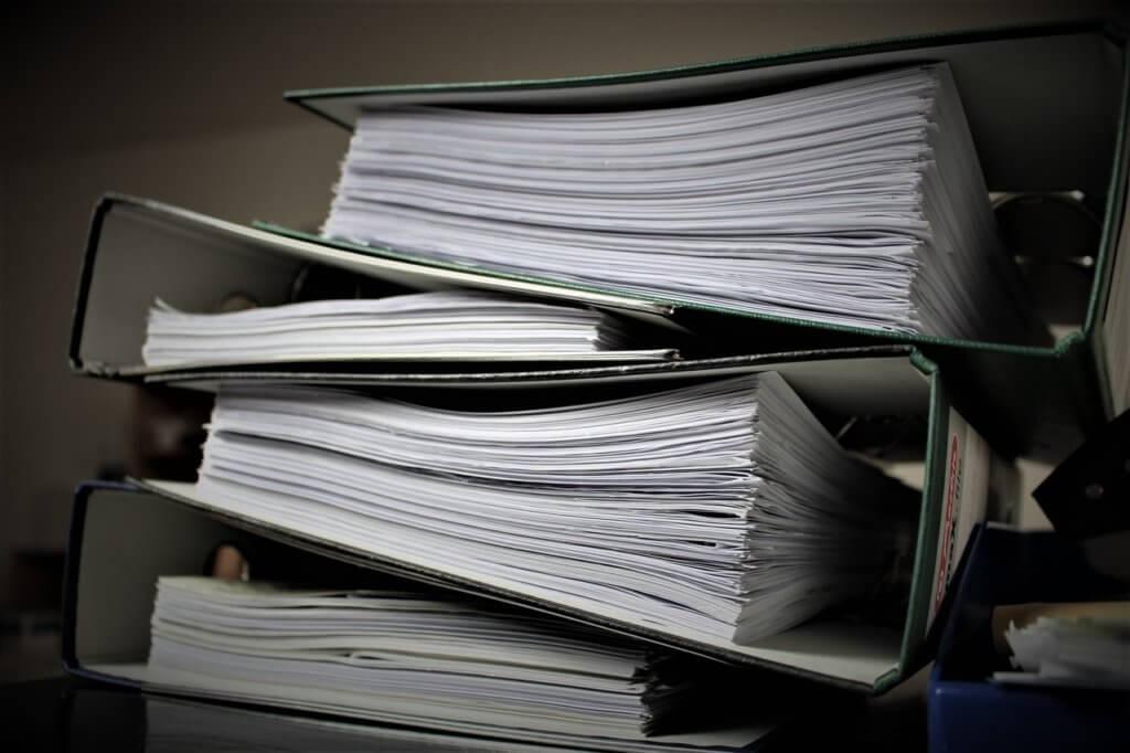 como verificar as contas do condominio em pastas com documentos